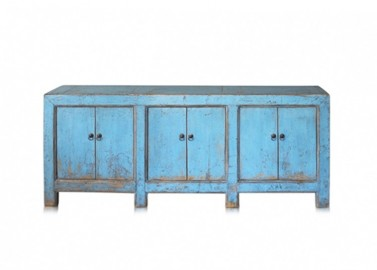 High Gloss Vintage Sideboard - 190 cm