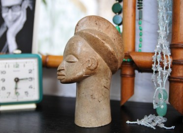 African statue signed - SOLD