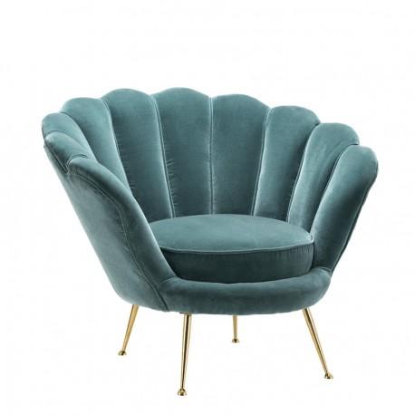 Fauteuil Chiara Celadon Blue Velvet