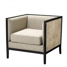 Grey Lounge Armchair Chrysler - Art Nouveau