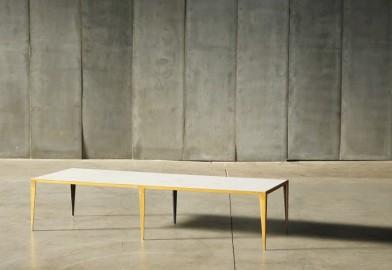 Table Basse Marbre et Métal Or Taïga