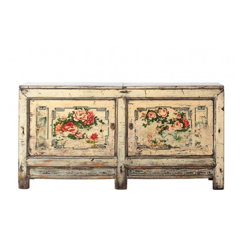magnifique buffet ancien chinois un meuble ancien r alis en bois de peuplier et peint la main. Black Bedroom Furniture Sets. Home Design Ideas