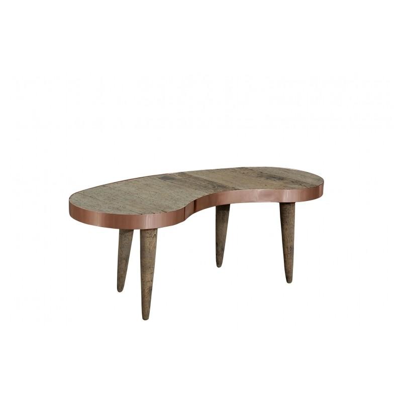 vintage vintage style furniture coffee table old pine wood copper. Black Bedroom Furniture Sets. Home Design Ideas