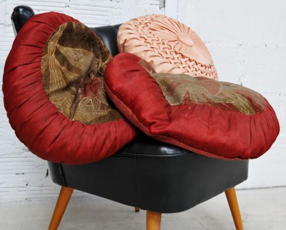A pair of cushions 1900's