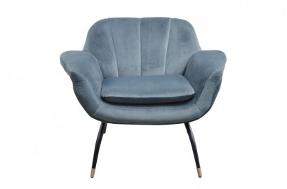 La chaise en velour ardoise Andy