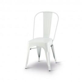 Chaise Tolix couleur rouille en metal galvanisé