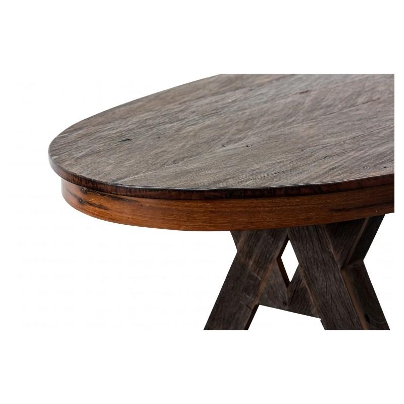 superbe table manger contemporaine ovale en bois de fer ironwood. Black Bedroom Furniture Sets. Home Design Ideas