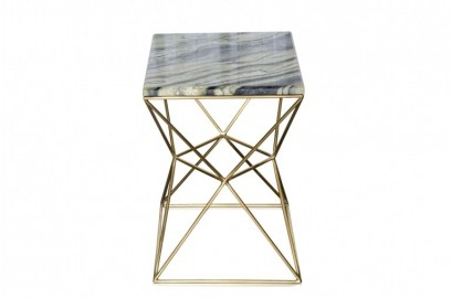 Table d'appoint Shiny en marbre vert