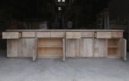 400cm Raw Wooden Dresser