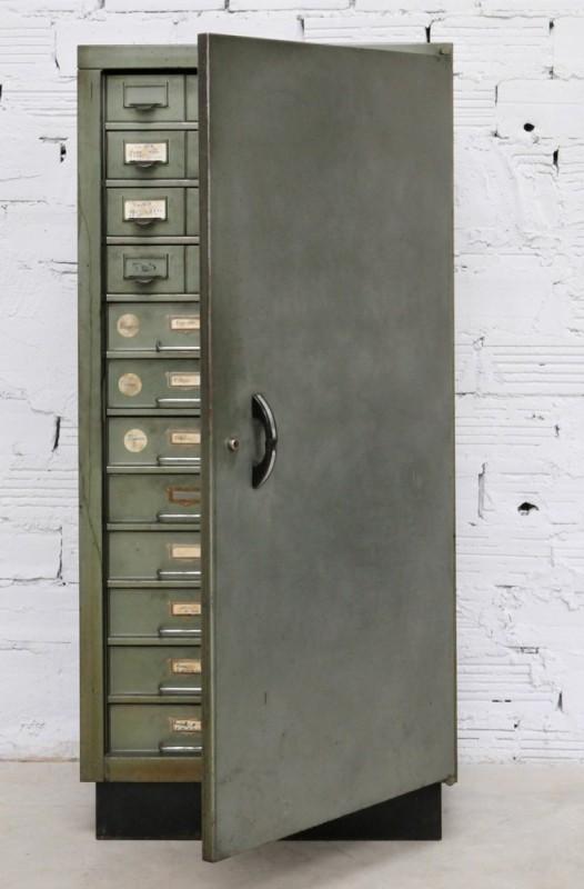 Vintage Metal Factory Storage Cabinet Old Factory Wardrobe