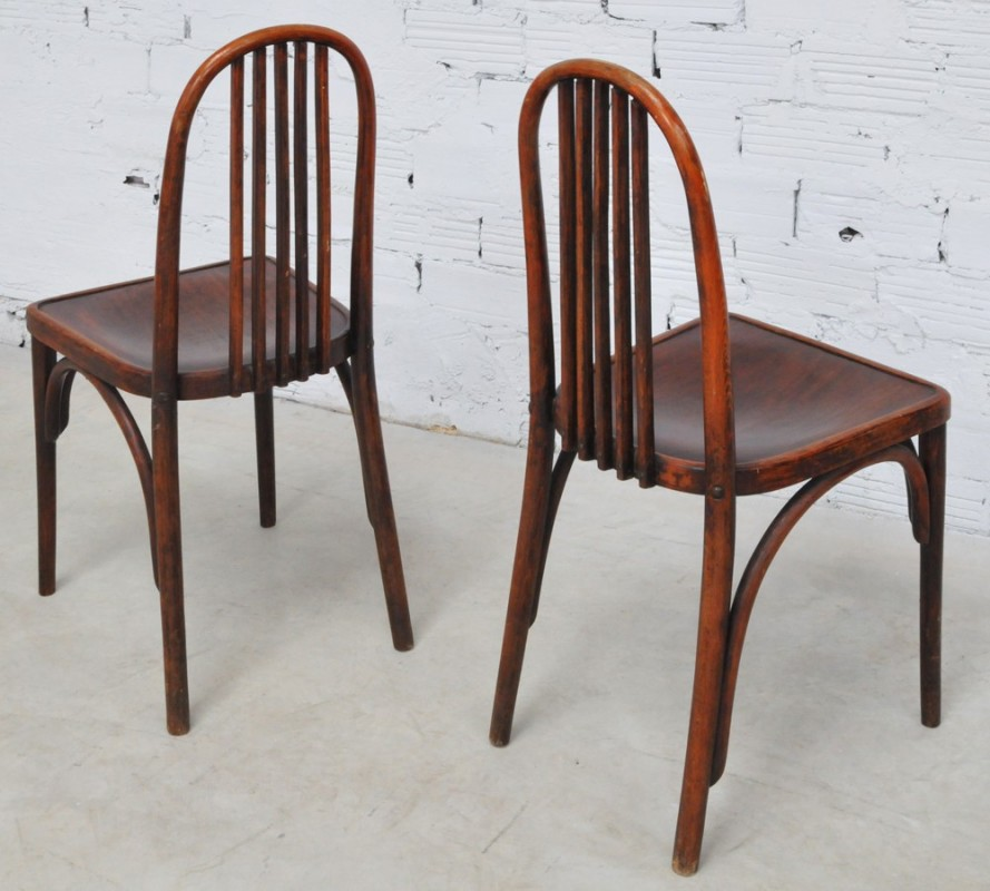Thonet vintage chairs art deco style 1930 for Chaise bistrot thonet