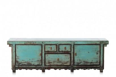 Buffet Bas Laque Bleu Lavande - 174 cm