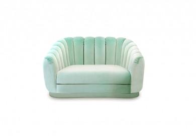 Canapé de Luxe Velours Olympe Mid Century