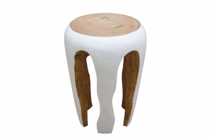 Stool in natural suar wood