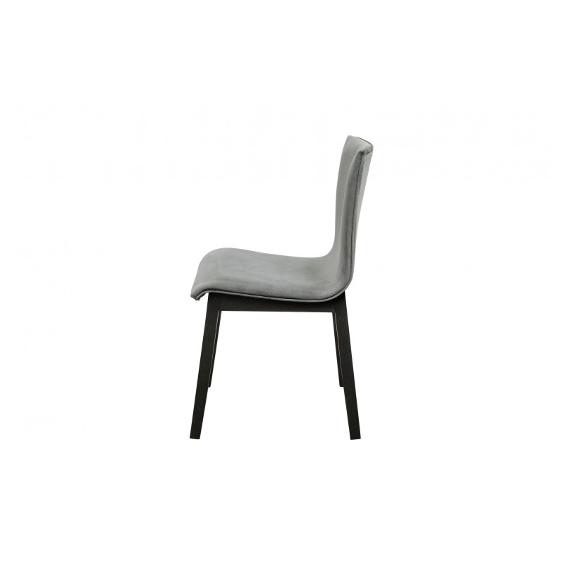Belle chaise edgar avec son pi tement en ch ne noir et for Chaise velours
