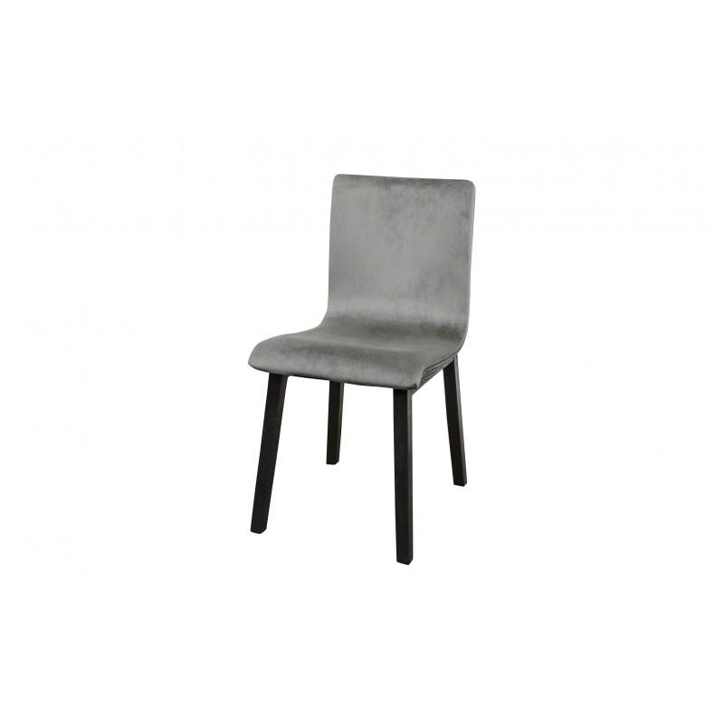 Belle chaise edgar avec son pi tement en ch ne noir et - Chaise en velours ...