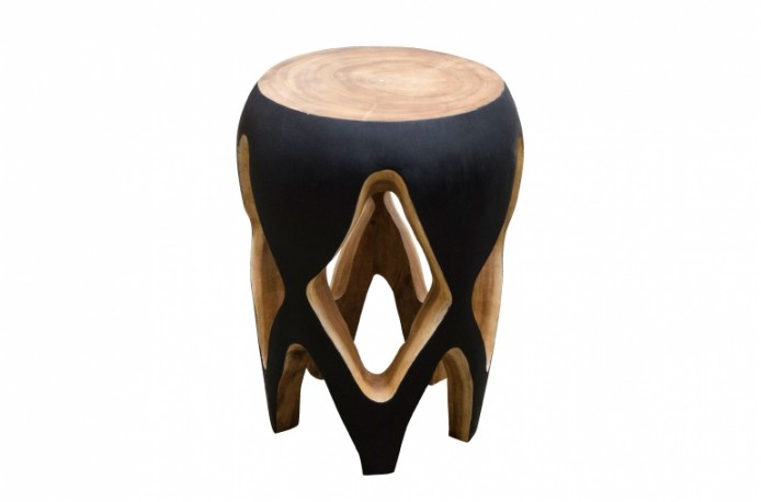 Table d'appoint sculpté en bois de Suar