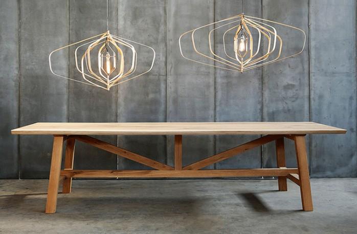 table en chêne massif, table de ferme, table salle à manger bois ...