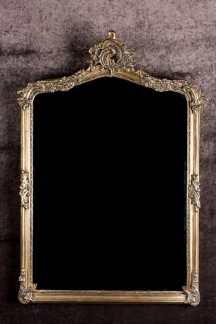 Grand miroir de cheminée baroque