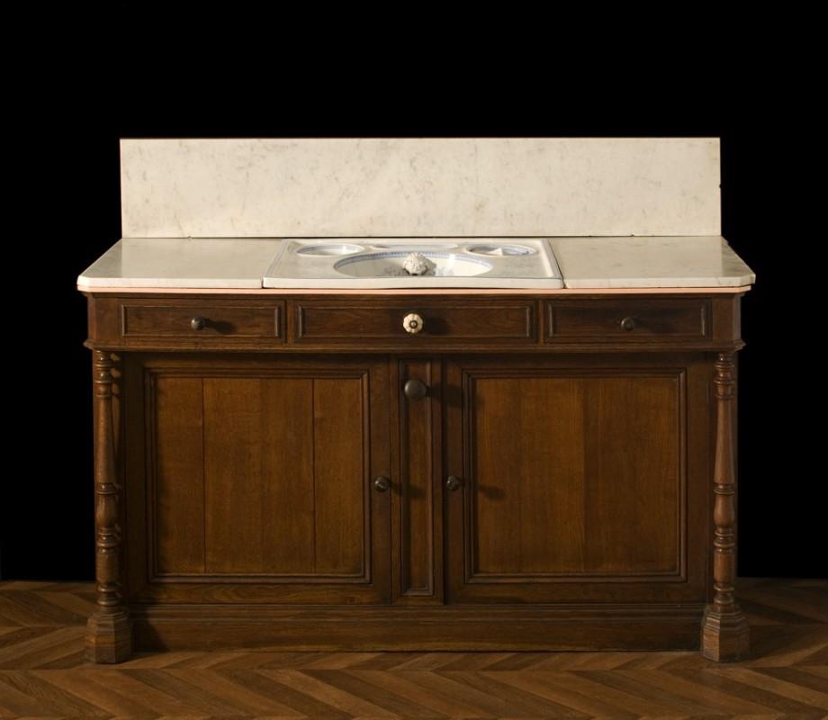 Meuble ancien salle de bains meuble r tro salle de bain - Meuble salle de bain ancien en bois ...