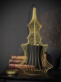 Lustre Cage Fer Doré Forme Byzantine