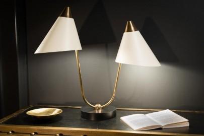 Lampe double bras, style 50s