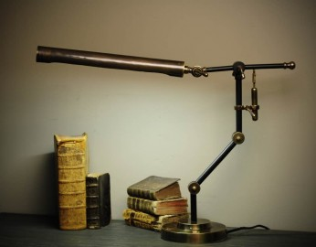 Desk Lamp Brass Tubular