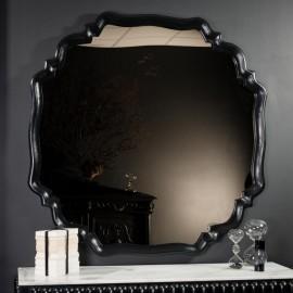 Grand miroir Or, arabesques noires