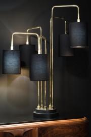 Très Grande Lampe de Table Laiton et Noir