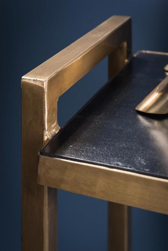 console troite d 39 entr e une ligne pur e avec laiton en. Black Bedroom Furniture Sets. Home Design Ideas