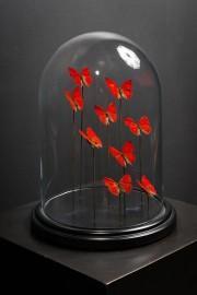 Red Butterflies Globe - Napoleon III Style