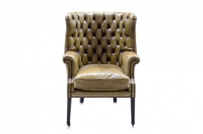 Churchill Leather Armchair - Lime