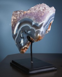 Open Amethyst Geode on Stand