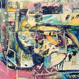 """Oil on Canvas """"Hôtel de Craie"""""""