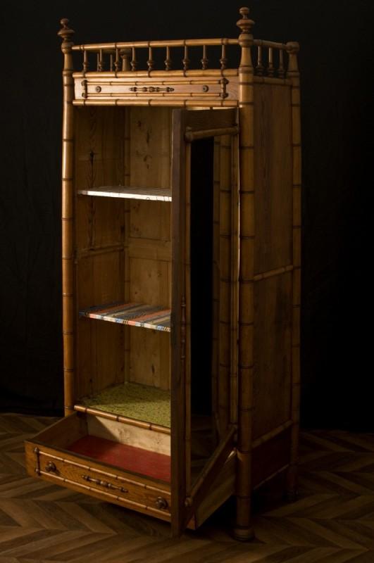 1920 Vintage Wardrobe; Armoire En Bambou; Armoire En Bambou ...