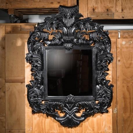 """Grand Miroir Baroque """"Magistral"""" noir"""