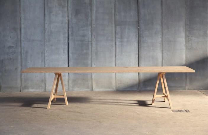 Table salle à manger en chêne massif  Pablo - 250 cm