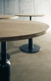 """Table Guéridon Rond en Teck  """"Piston"""" ∅ 80cm"""