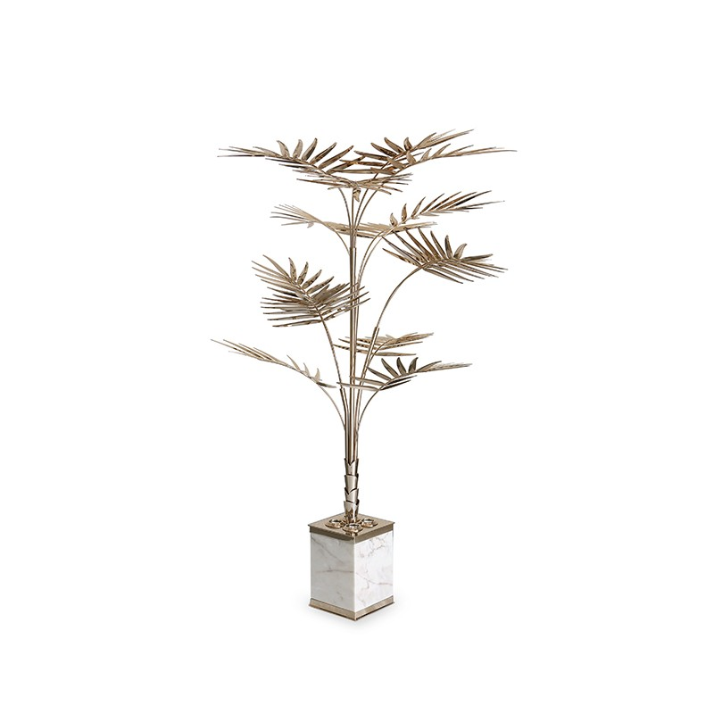 Mid Century Standard Lamp: A Great Mid-century Floor Lamp Shaped As A Palm Tree, That