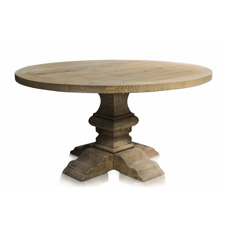 Table Ronde Bois Brut - table ronde en bois, table en bois ronde, table ronde bois, table de ferme, table de ferme