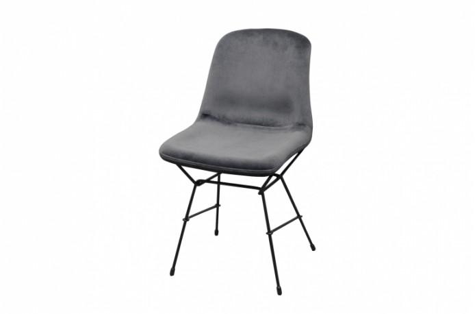 Eva Chair Grey Velvet
