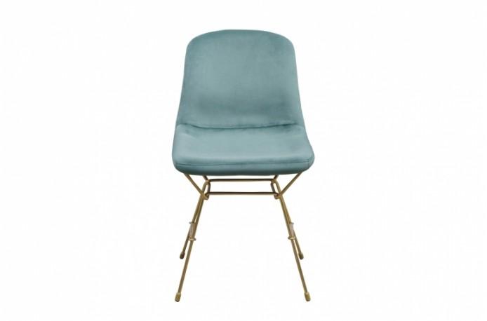Eva Chair Blue Green Velvet