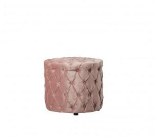Aeva Ottoman Pink Velvet