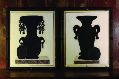 Gravures Silhouettes de Vases Japonais