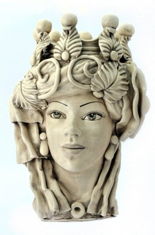 Vase en Céramique, Tête de Maures