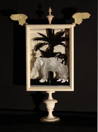 Lampe Déco Cirque en Ville, H61cm