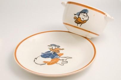 Bol et assiette Donald Duck