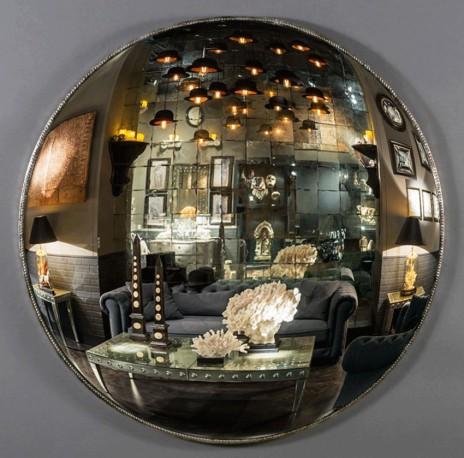 immense miroir sorci re de 145 cm de diam tre une pi ce unique dans le plus pur style de la fin. Black Bedroom Furniture Sets. Home Design Ideas