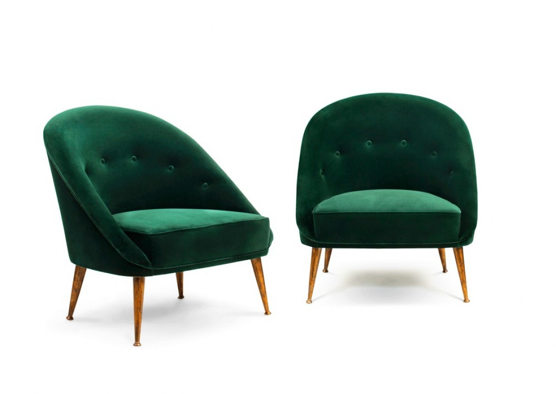 The Kelly Lounge Chair Green Velvet Luxury Movie Star