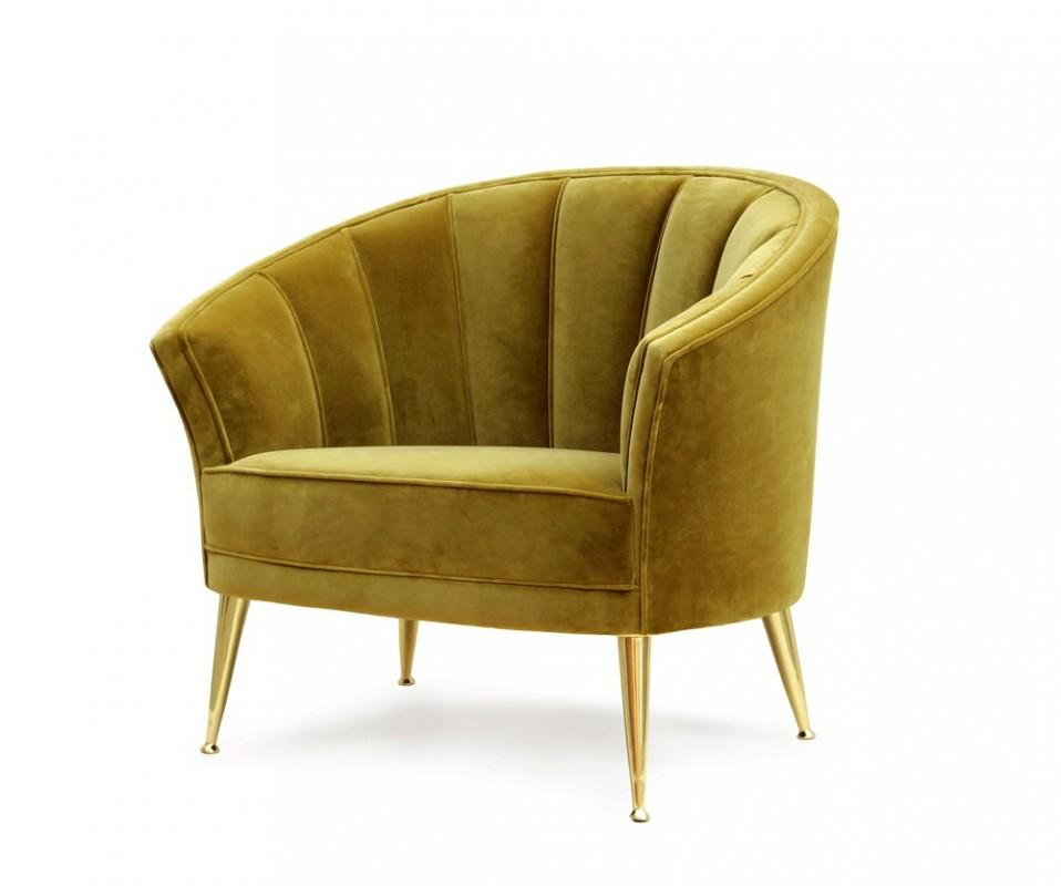 fauteuil en velours fauteuil art d co fauteuil moderne style art deco mirabelle citron vert. Black Bedroom Furniture Sets. Home Design Ideas